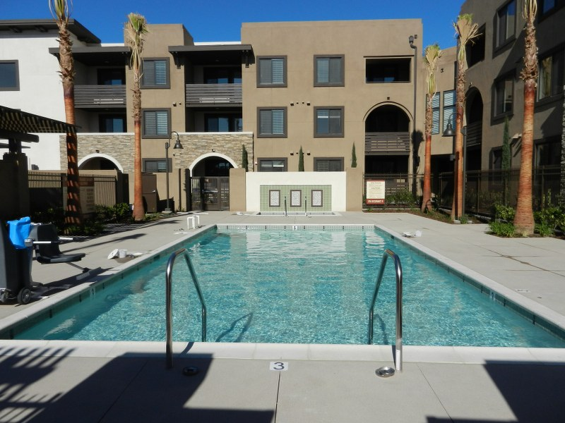 The Magnolia at Highland Senior Apartments pool view