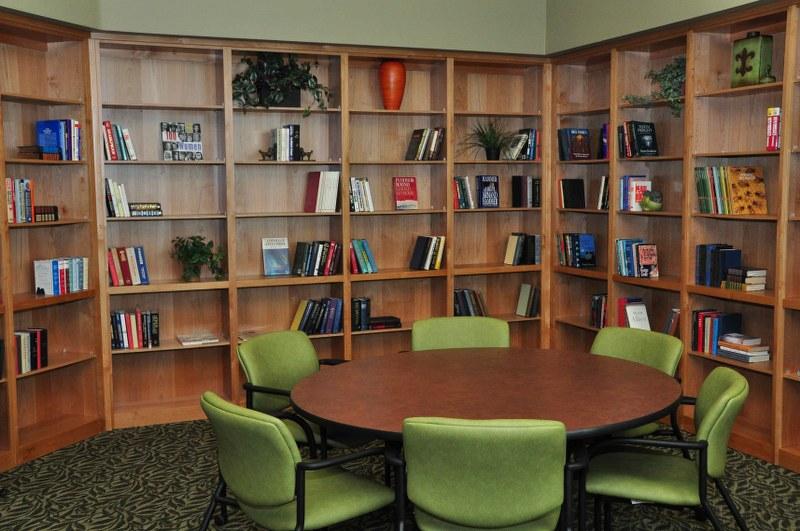 The Magnolia at Highland Senior Apartments reading room